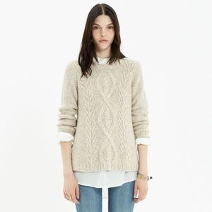 Madewell firelight Marled pullover cable sweater